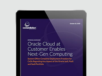 Constellation Research, Oracle Cloud at Customer Enables Next-Gen Computing