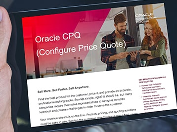 Learn how Oracle CPQ Cloud can help you automate much of the opportunity-to-quote-to-order process