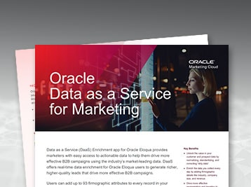 Oracle DaaS for Marketing data sheet