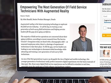 How augmented reality is empowering the next generation of field service technicians.