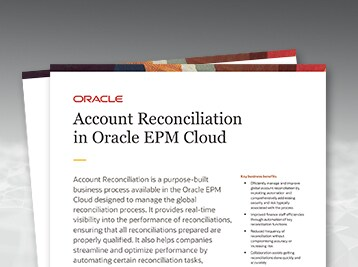 Account Reconciliation in Oracle EPM Cloud