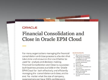 Financial Consolidation and Close in Oracle EPM Cloud