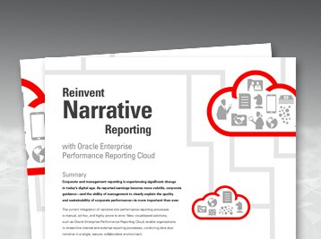 Reinvent Narrative Reporting with Oracle EPM Cloud white paper