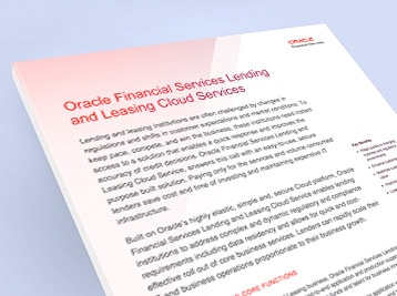 Oracle Financial Services Lending and Leasing on the Cloud