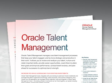 Oracle Talent Management Cloud data sheet