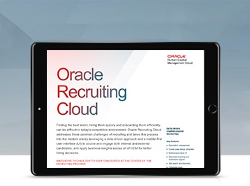 Oracle Recruiting Cloud data sheet