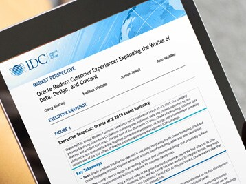 IDC: Oracle Modern Customer Experience: Expanding the Worlds of Data, Design, and Content