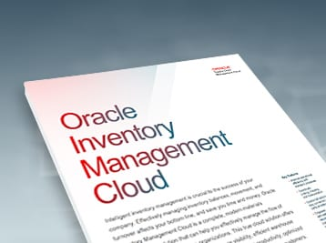 Advanced Fulfillment with Oracle Inventory Management Cloud data sheet