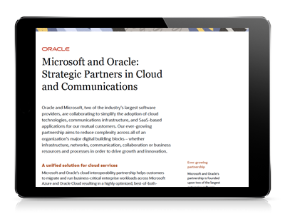 Oracle Partners with Microsoft