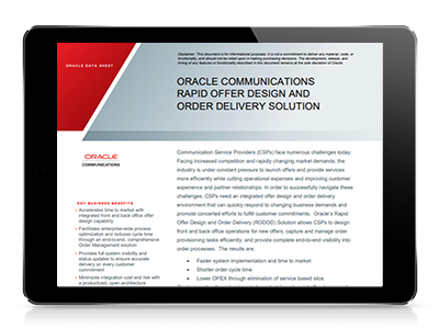 Speed Time to Market, Reduce Order Cycle Times and Lower Operational Costs