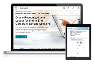 Oracle Recognized as a Leader for End-to-End Corporate Banking Solutions