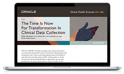 The Time is Now for Transformation in Clinical Data Collection