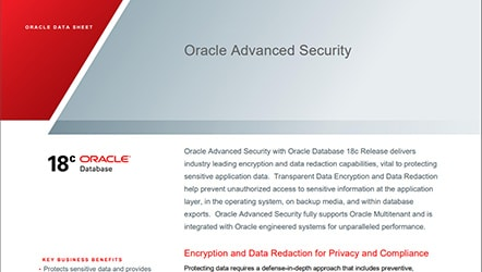 Data Sheet: Oracle Advanced Security