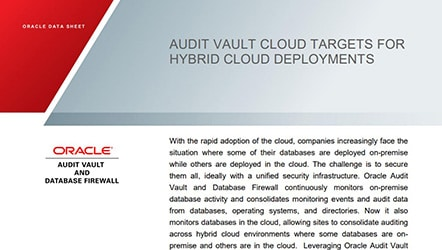 Data Sheet: AVDF Cloud Targets for Hybrid Cloud Deployment