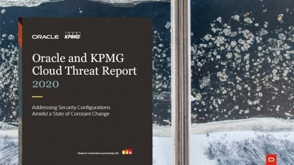 Oracle and KPMG Cloud Threat Report 2020 cover
