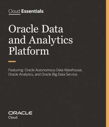 plataforma analítica y de datos Oracle