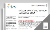 Java ME Embedded Client data sheet