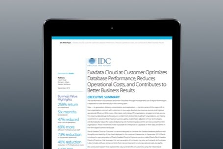 Exadata Cloud at Customer Contributes to Better Business Results