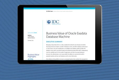 The Business Value of Oracle Exadata
