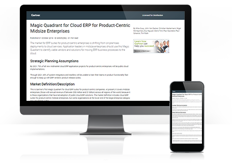 Cloud ERP for Product-Centric Midsize Enterprises