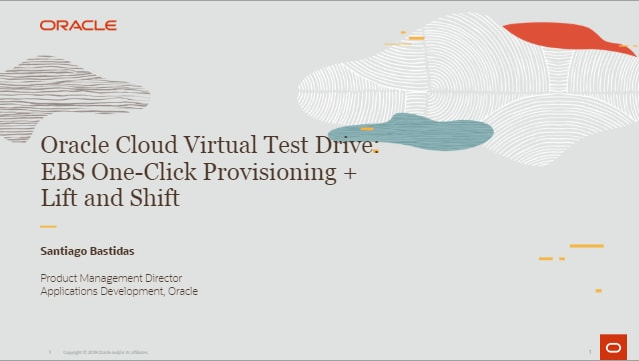 EBS One-Click Provisioning + Lift and Shift