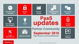 Paas Updates September