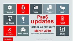 PaaS Partner YouTube Update March 2019