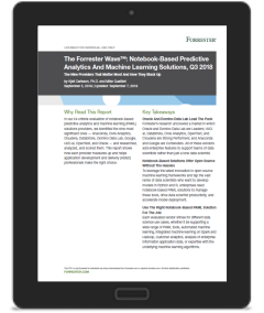 Forrester Positions Oracle as a Leader of Notebook-Based Machine Learning Solutions Providers