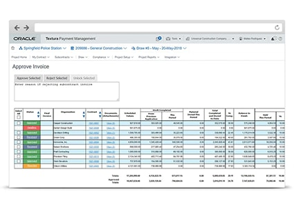 See how Oracle Textura Payment Management increases efficiency and reduces risk.