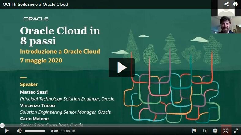 Introduzione a Oracle Cloud