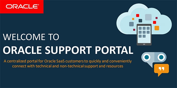 Oracle Support Portal screenshot