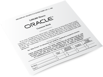 Oracle goes public