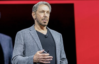 Oracle's Larry Ellison says Gen 2 Cloud is a highly secure platform for the enterprise.