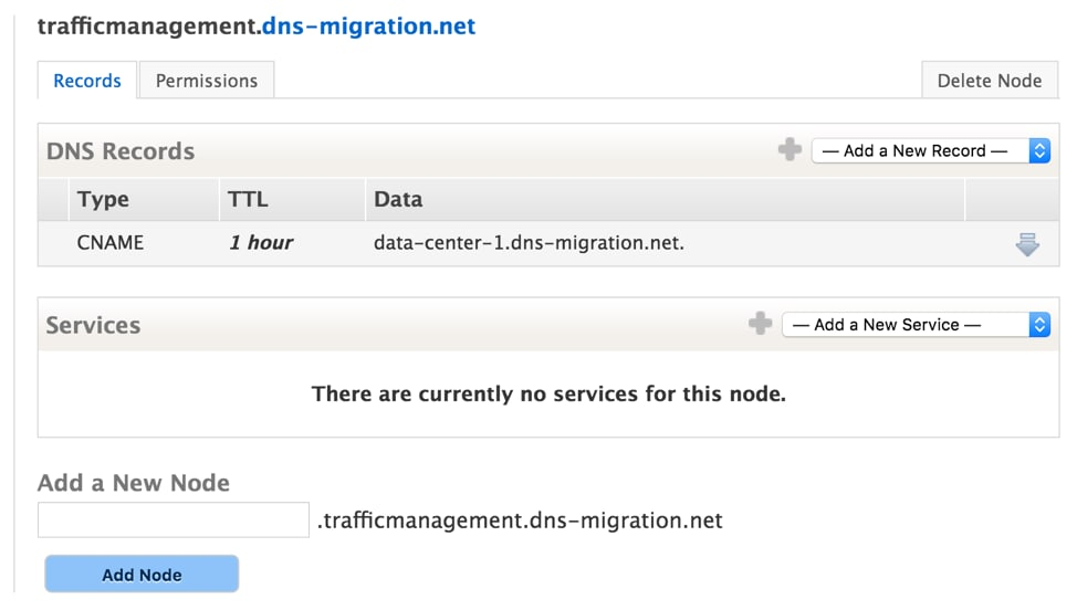 Dyn Traffic Management with a single CNAME record on the hostname