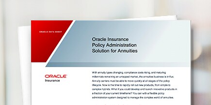 Oracle Insurance Policy Administration for Annuities