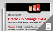 Vignette de Performance et efficacité avec Oracle ZFS Storage ZS4-4