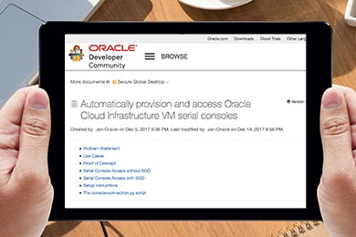 Provision and Access Oracle Cloud Infrastructure