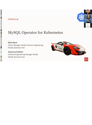 MySQL Operator for Kubernetes in German
