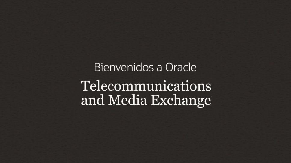 Oracle Webinar: Telecommunications and Media Exchange