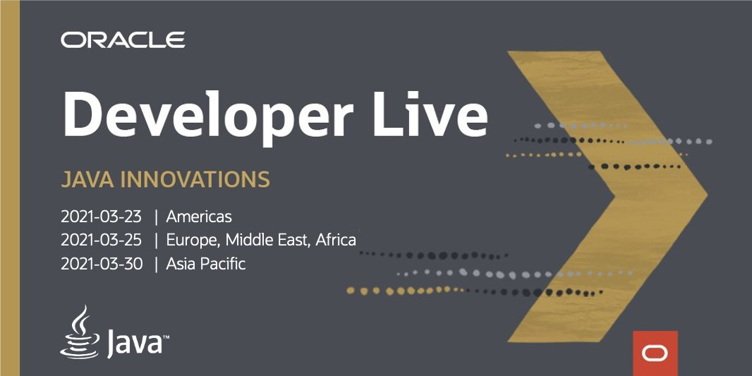 Oracle Developer Live: Java Innovations