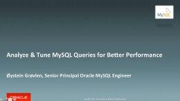 Analyze & Tune MySQL
