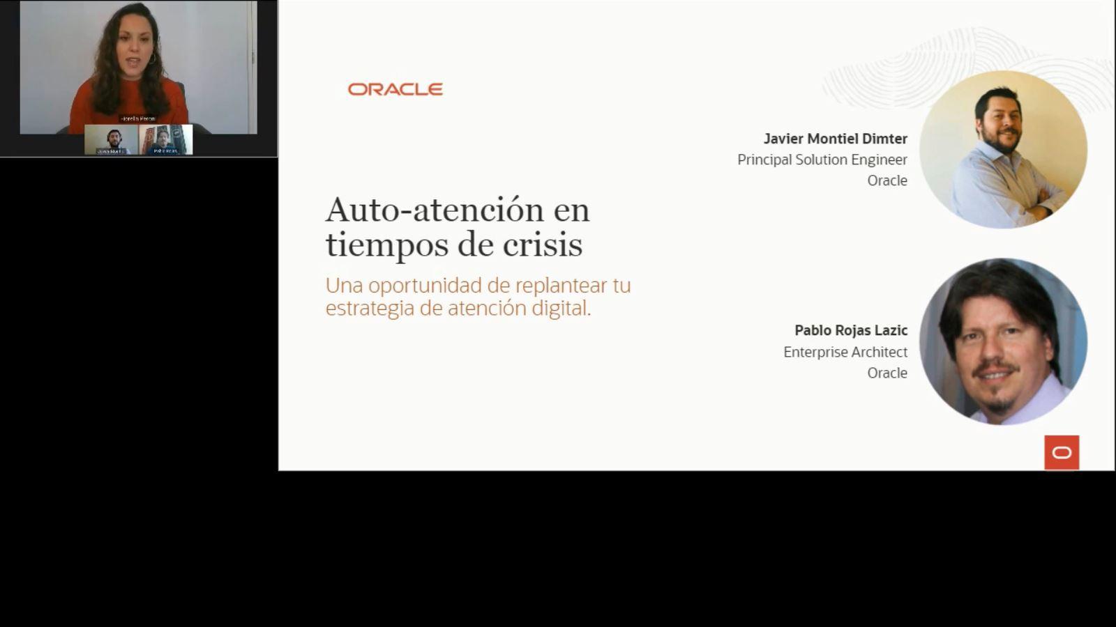 Oracle Webinar: Auto atención en tiempos de crisis