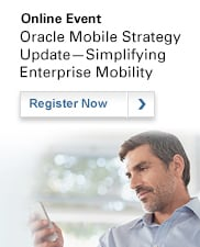 Online Event: Oracle Mobile Strategy Update