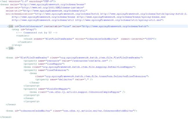 Spring batch custom database writer