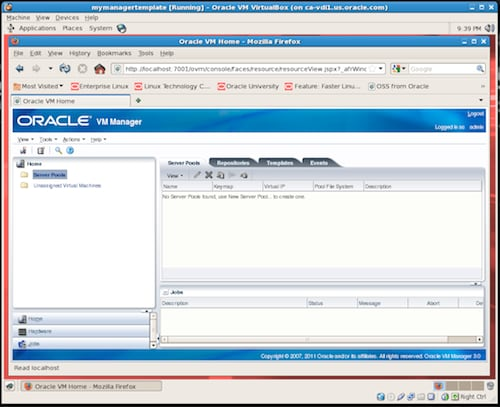 Tecnologia oracle per smb for Download oracle vm templates
