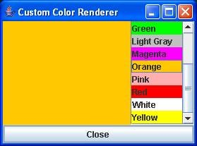 Figure 4. The User-Friendly Color List