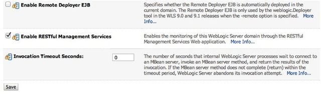 Oracle WebLogic RESTful Management Services: From Command