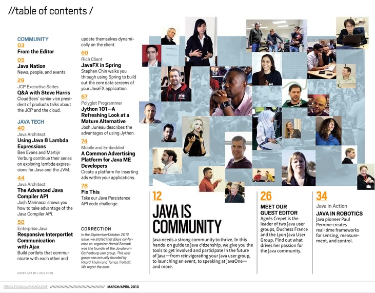 Java Magazine TOC