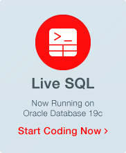 Oracle Live SQL