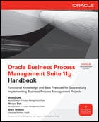 Oracle Business Process Management Suite 11g Handbook book cover
